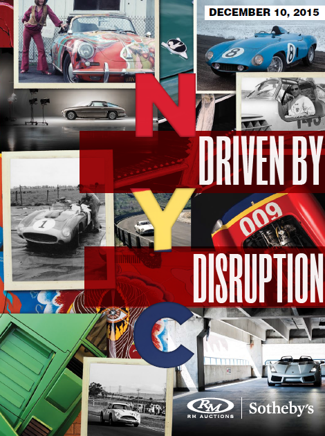 RM Sothebys Driven By Disruption auction catalogue