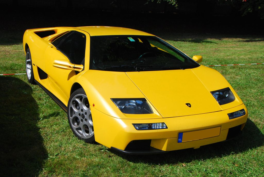 "Diablo 6.0 VT with open headlamps. Note the distinct ""Murcielgao look""."