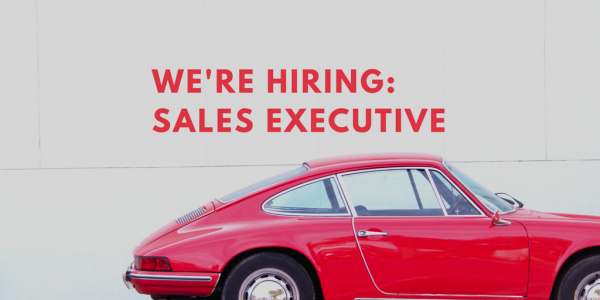 we're hiring - Sales excutive July 2017