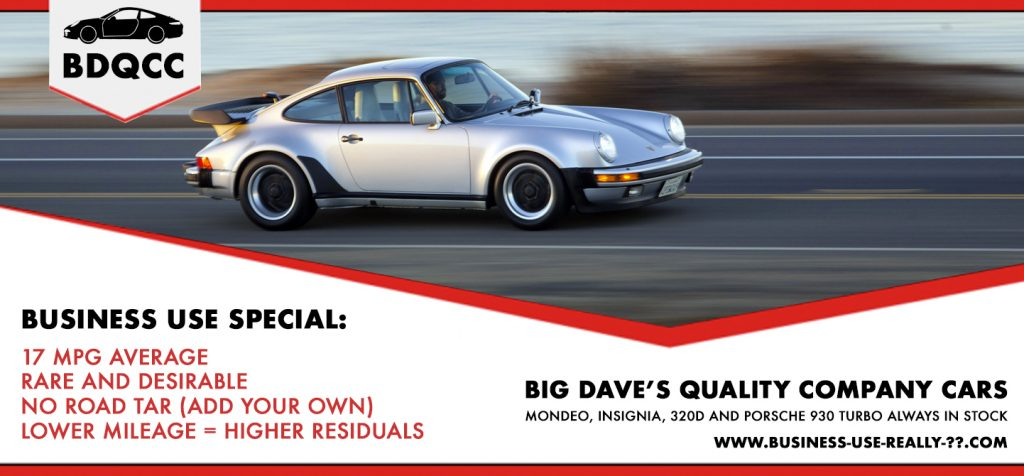 Porsche 930 turbo for Business use