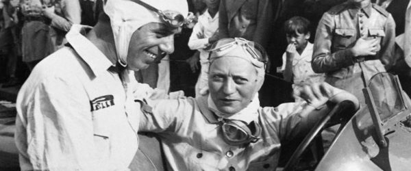 Vintage image of female racing driver for women in motorsport article.
